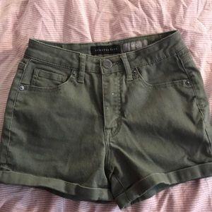 green aeropostale jean shorts